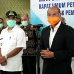 Gubernur NTT, Viktor B. Laiskodat didampingi Wali Kota Kupang, Dr. Jefri Riwu Kore