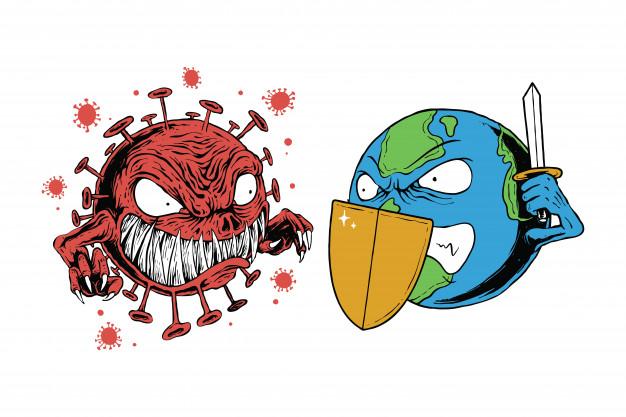 corona virus earth character world graphic illustration 24519 1063