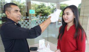 Antisipasi Corona Dalton Makassar Cek Suhu Tubuh Tamu