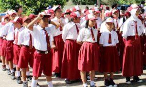 ILUSTRASI Anak anak sekolah dasar Borneonews