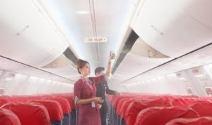 Safety first disinfectant spray and aircraft interior cleaning Lion Air 2