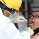 antisipasi covid 19 ratusan penumpang krl di test swab