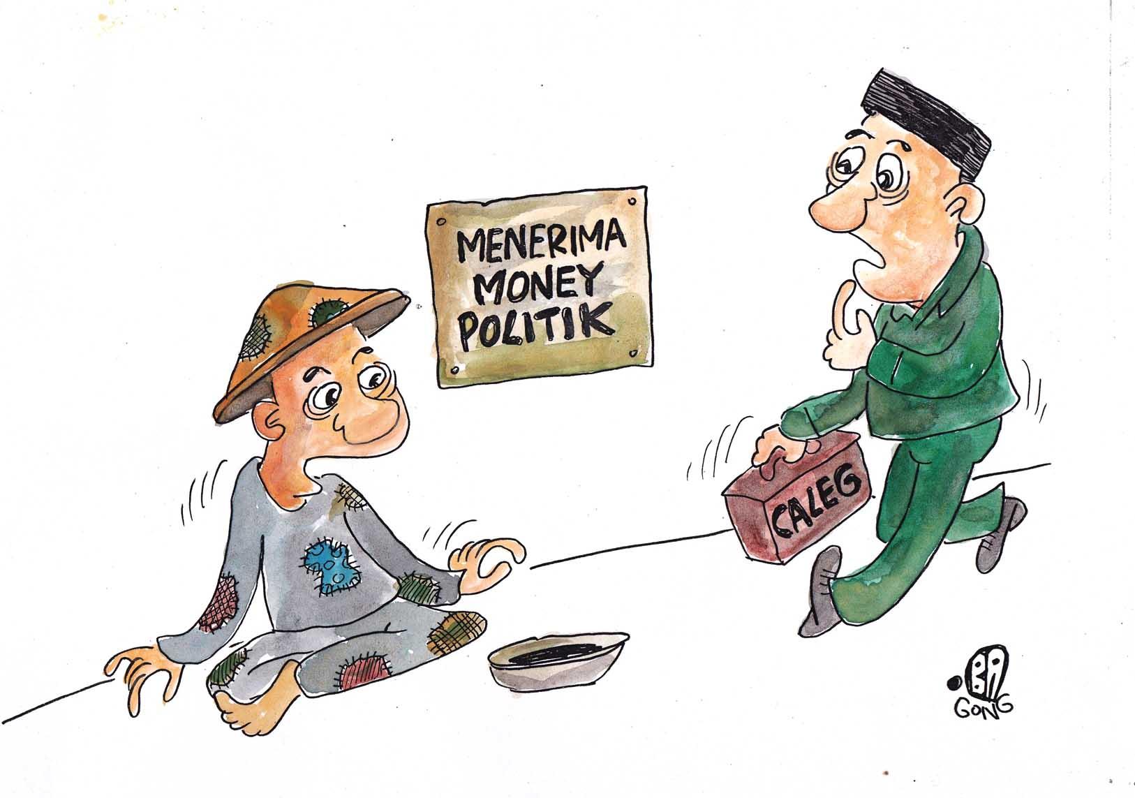 kartun 1 money politik