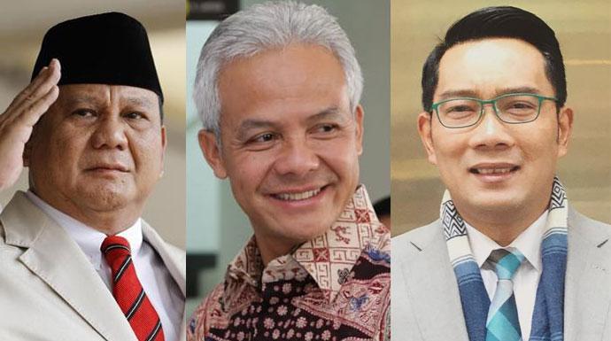 565 ganjar pranowo ridwan kamil dan prabowo calon terkuat presiden 2024