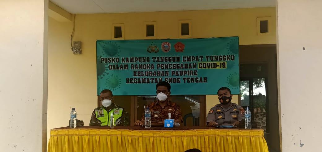 Atasi Covid Camat Ende Tengah Resmikan Kampung Tangguh Rakyat Ntt