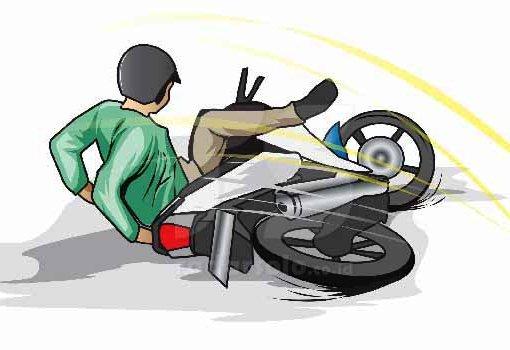 10124254273 jatuh dari motor