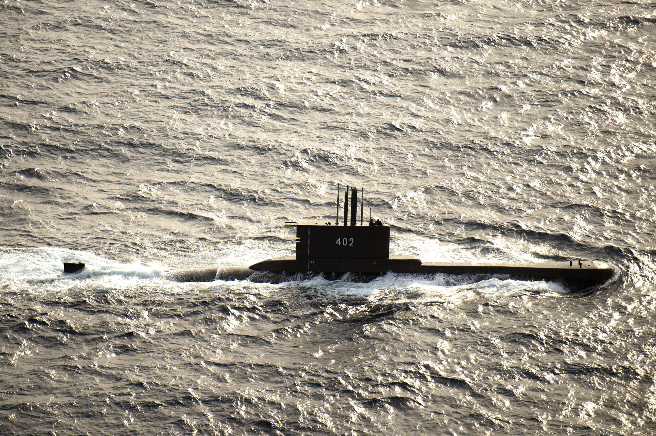 Indonesian submarine KRI Nanggala 402 underway in August 2015 scaled