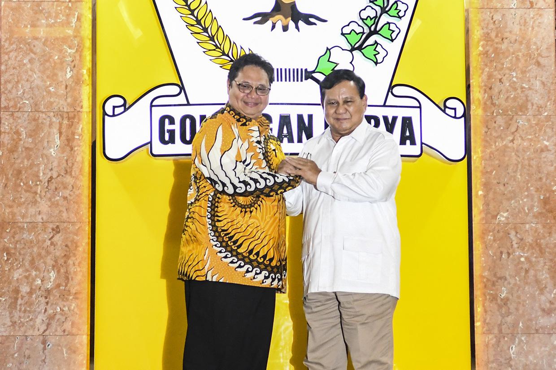 Prabowo Bertemu Airlangga di DPP Golkar 1