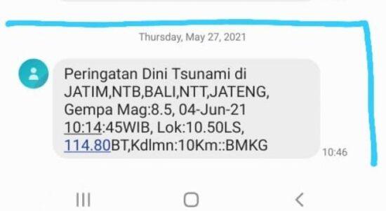 48742 bmkg sebar sms jawa bali diguncang gempa 85 sr 4 juni 2021