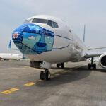 p 16024988400bf masker desain anak negeri dipasang di pesawat garuda indonesia
